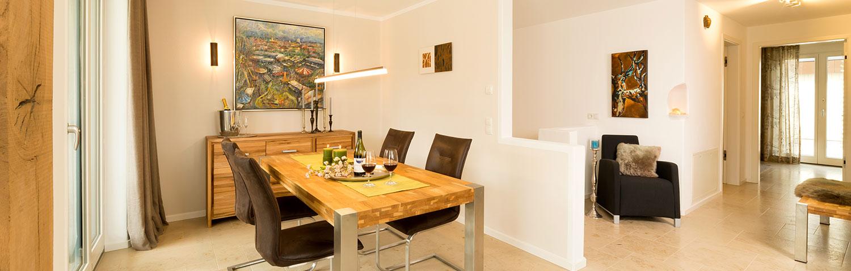 Wohnzimmer Ferienwohnung direkt von Privat in Prien am chiemsee